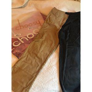 Choosy - Day & Night Pants - Khaki & Black - sz 2